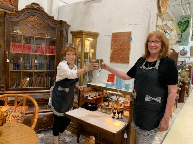 Rise and Pamela at City Antiques